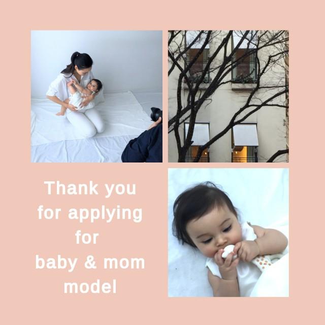 2018ベビー&ママモデルご応募有難うございました。